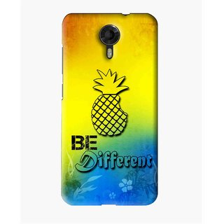 Snooky Printed Be Different Mobile Back Cover For Micromax Canvas Express 2 E313 - Multi
