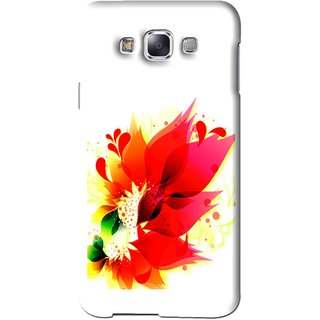 Snooky Printed Flowery Red Mobile Back Cover For Samsung Galaxy A5 - White