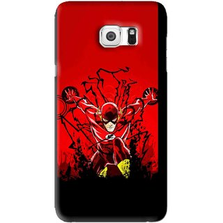 Snooky Printed Super Hero Mobile Back Cover For Samsung Galaxy Note 5 - Black
