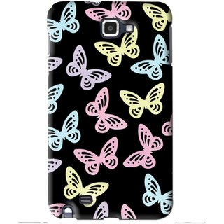 Snooky Printed Butterfly Mobile Back Cover For Samsung Galaxy Note 1 - Multi
