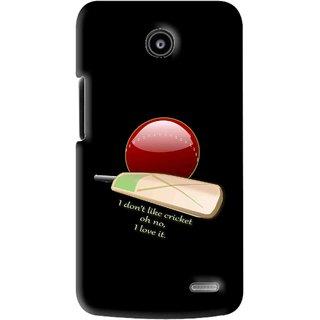 Snooky Printed Cricket Lover Mobile Back Cover For Lenovo A820 - Black