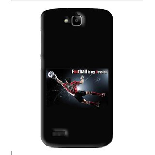 Snooky Printed Football Passion Mobile Back Cover For Huawei Honor Holly - Black