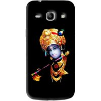 Snooky Printed God Krishna Mobile Back Cover For Samsung Galaxy Star Advance SM G350E - Black