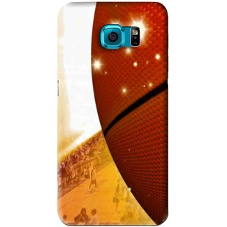 info for e3ab8 1a3f3 Snooky Printed Basketball Club Mobile Back Cover For Samsung Galaxy S6 Edge  - Brown