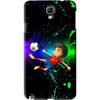 Snooky Printed High Kick Mobile Back Cover For Samsung Galaxy Note 3 neo - Multi
