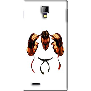 Snooky Printed Karate Boy Mobile Back Cover For Micromax Canvas Xpress A99 - White