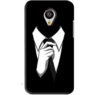 Snooky Printed White Collar Mobile Back Cover For Meizu MX4 - Black