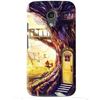 Snooky Printed Dream Home Mobile Back Cover For Moto G2 - Multi