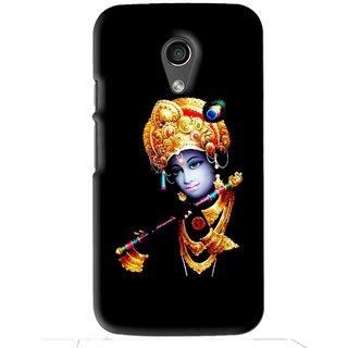 Snooky Printed God Krishna Mobile Back Cover For Moto G2 - Black