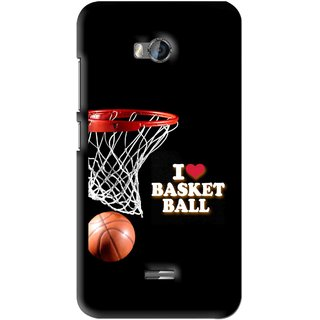 Snooky Printed Love Basket Ball Mobile Back Cover For Micromax Bolt Q336 - Black