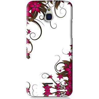 Snooky Printed Flower Creep Mobile Back Cover For Infocus M2 - Pink