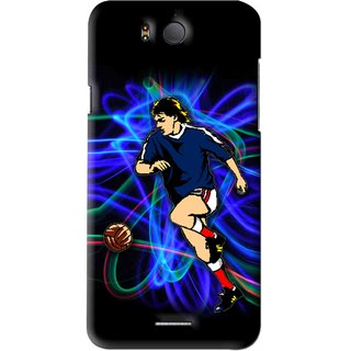 Snooky Printed Football Passion Mobile Back Cover For Infocus M530 - Black