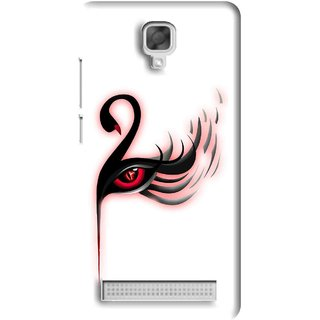 Snooky Printed Eye Art Mobile Back Cover For Micromax Bolt Q331 - White