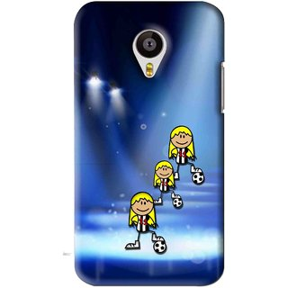 Snooky Printed Girls On Top Mobile Back Cover For Meizu MX4 - Blue
