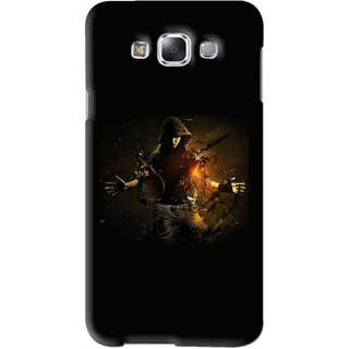Snooky Printed Dancing Boy Mobile Back Cover For Samsung Galaxy E7 - Black