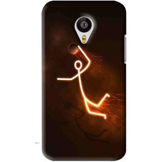 Snooky Printed Burning Man Mobile Back Cover For Meizu MX4 - Brown