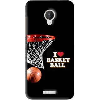 Snooky Printed Love Basket Ball Mobile Back Cover For Micromax Canvas Spark Q380 - Black
