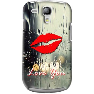 Snooky Printed Love You Mobile Back Cover For Samsung Galaxy S3 Mini - Multi