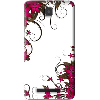 Snooky Printed Flower Creep Mobile Back Cover For Lenovo A1900 - Pink