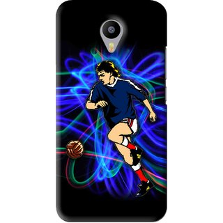 Snooky Printed Football Passion Mobile Back Cover For Meizu M2 Note - Black