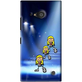 Snooky Printed Girls On Top Mobile Back Cover For Microsoft Lumia 735 - Blue