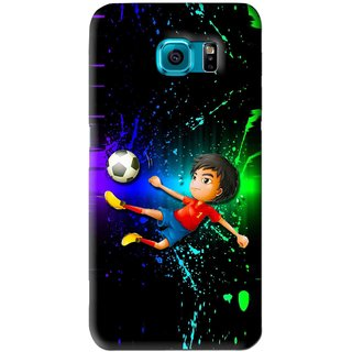 Snooky Printed High Kick Mobile Back Cover For Samsung Galaxy S6 Edge - Multi
