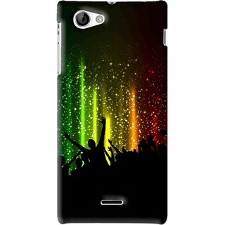 Snooky Printed Party Time Mobile Back Cover For Sony Xperia J - Multi