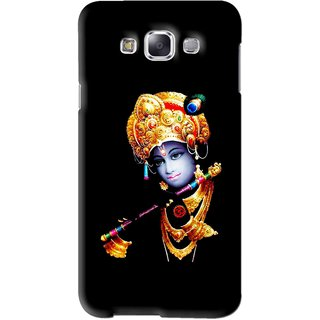 Snooky Printed God Krishna Mobile Back Cover For Samsung Galaxy A7 - Black