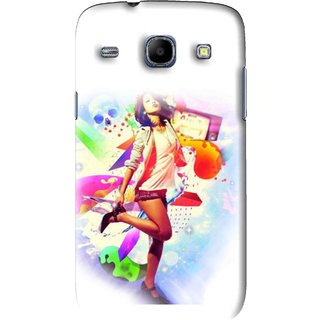Snooky Printed Shopping Girl Mobile Back Cover For Samsung Galaxy 8262 - White