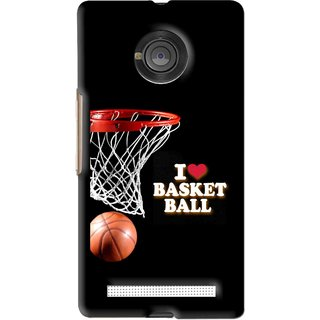 Snooky Printed Love Basket Ball Mobile Back Cover For Micromax Yu Yuphoria - Black