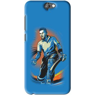 Snooky Printed I M Best Mobile Back Cover For HTC One A9 - Blues