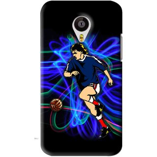 Snooky Printed Football Passion Mobile Back Cover For Meizu MX4 - Black
