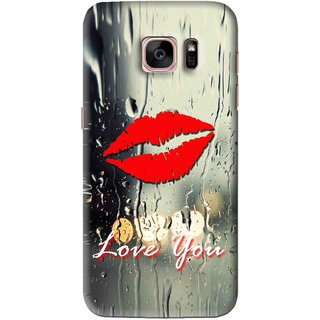 Snooky Printed Love You Mobile Back Cover For Samsung Galaxy S7 Edge - Multi