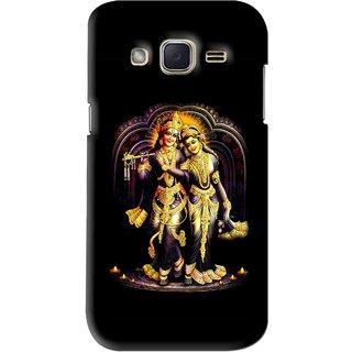 Snooky Printed Radha Krishan Mobile Back Cover For Samsung Galaxy j2 - Black