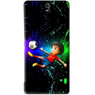 Snooky Printed High Kick Mobile Back Cover For Sony Xperia C5 - Multi