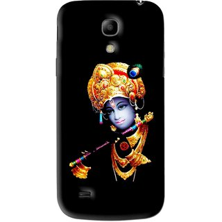 Snooky Printed God Krishna Mobile Back Cover For Samsung Galaxy s4 mini - Black