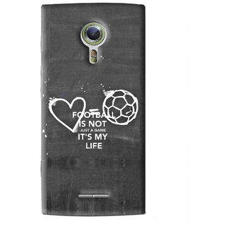 Snooky Printed Football Life Mobile Back Cover For Alcatel Flash 2 - Black