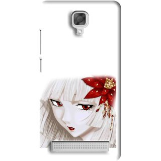 Snooky Printed Chinies Girl Mobile Back Cover For Micromax Bolt Q331 - White