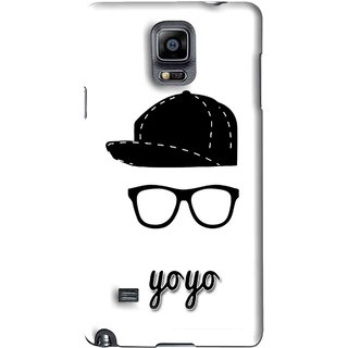 Snooky Printed Yo Yo Mobile Back Cover For Samsung Galaxy Note 4 - White