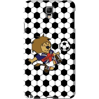 Snooky Printed Football Cup Mobile Back Cover For Samsung Galaxy Note 3 neo - Multi
