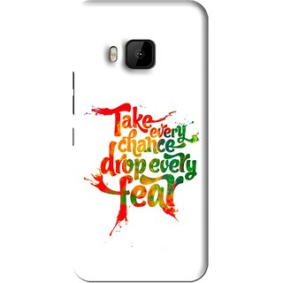 Snooky Printed Drop Fear Mobile Back Cover For HTC One M9 - White