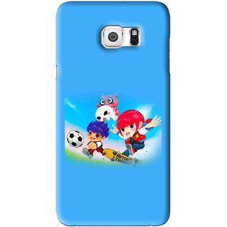 Snooky Printed Childhood Mobile Back Cover For Samsung Galaxy Note 5 - Blue
