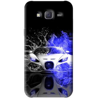 Snooky Printed Super Car Mobile Back Cover For Samsung Galaxy J5 - Black