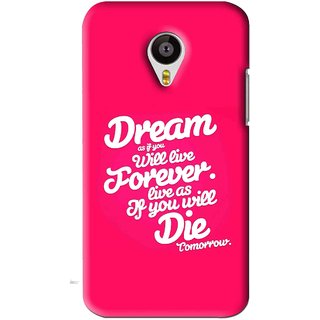 Snooky Printed Live the Life Mobile Back Cover For Meizu MX4 - Pink