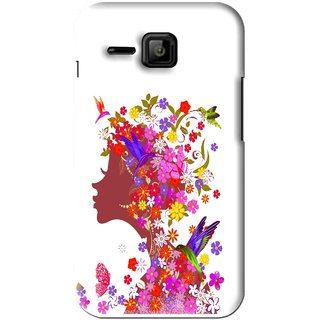 Snooky Printed Girl Beauty Mobile Back Cover For Micromax Bolt S301 - Pink