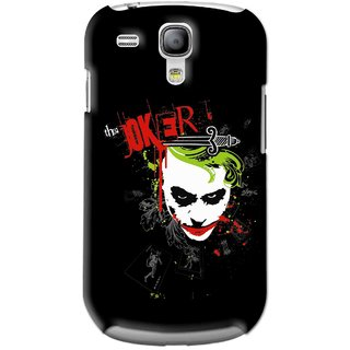 Snooky Printed The Joker Mobile Back Cover For Samsung Galaxy S3 Mini - Black