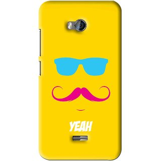 Snooky Printed Yeah Mobile Back Cover For Micromax Bolt Q336 - Yellow