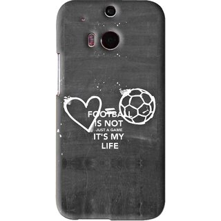 Snooky Printed Football Life Mobile Back Cover For HTC One M8 - Black
