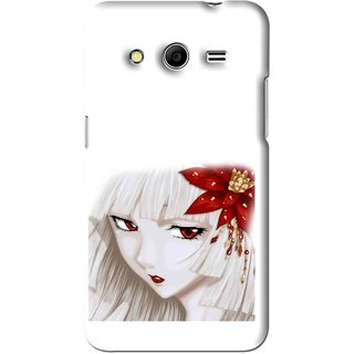 Snooky Printed Chinies Girl Mobile Back Cover For Micromax Canvas Nitro 3 E455 - White