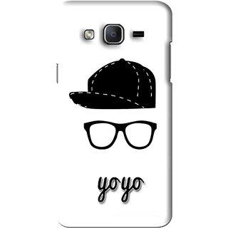 Snooky Printed Yo Yo Mobile Back Cover For Samsung Galaxy On5 - White